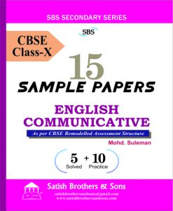 English Communicative (Sample Papers) - X